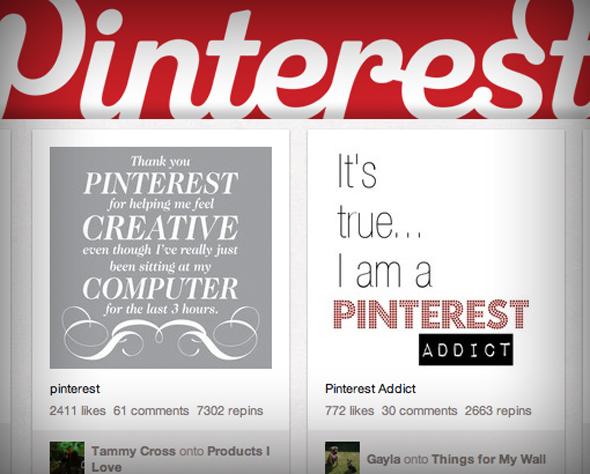 diseño de pinterst en web