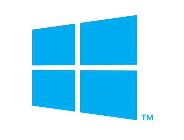 logo gigante windows 8 azul y blanco
