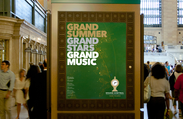 imagen de publicidad de los 100 años del gran central de ny