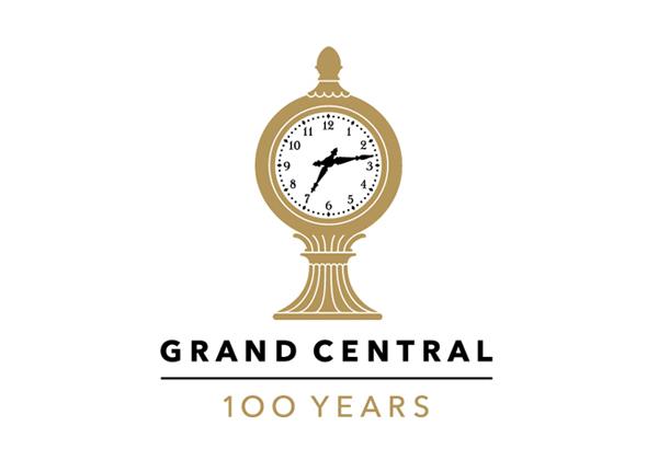 logotipo gran central de nueva york 100 años