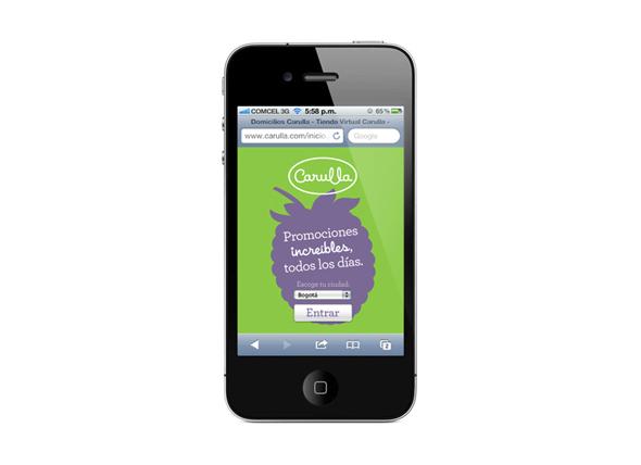 imagen de aplicación Carulla en smartphones