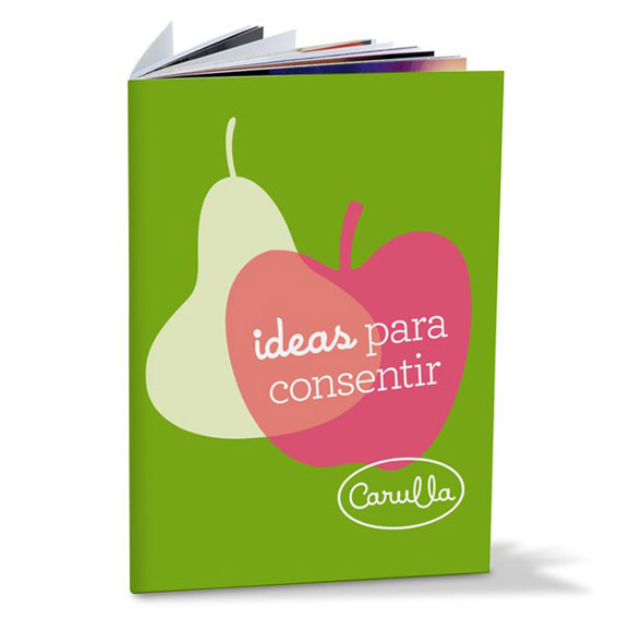 libro de cocina Carulla imagen de marca publicidad de logo del supermercado Colombiano