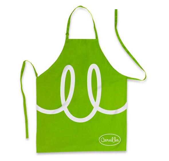imagen de delantal de Carulla publicidad de la marca de supermercados