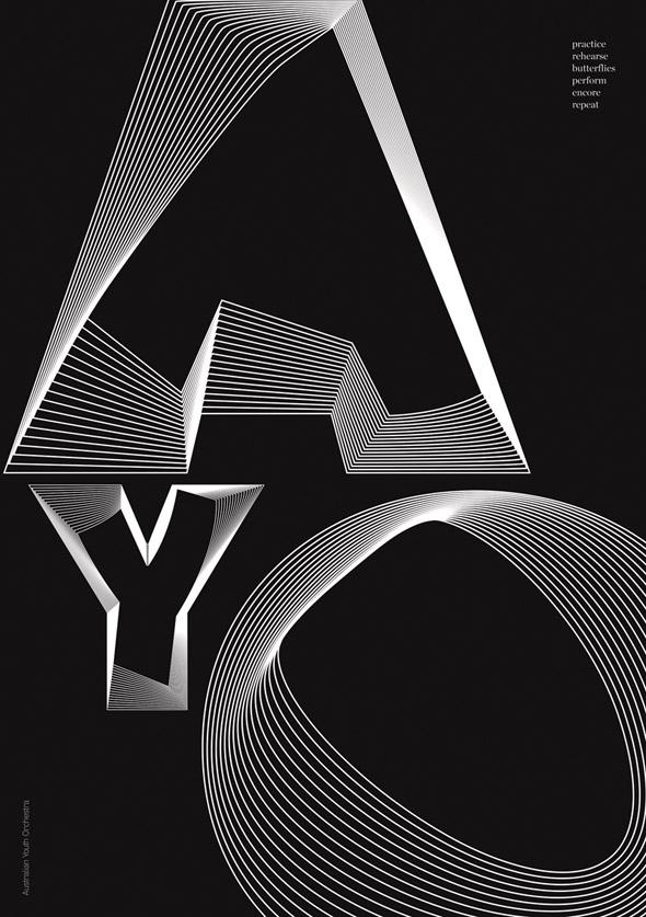 diseño de imagen Australian Youth Orchestra