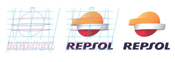 Diseño  del nuevo logotipo de Repsol