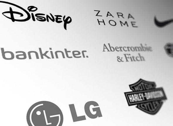 imagen de branding sensorial publicidad cojunto de logos