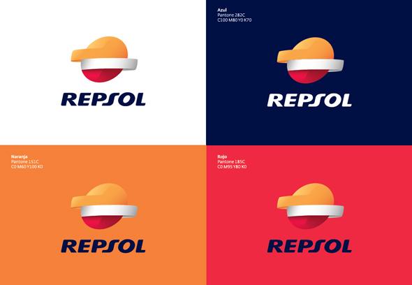 Fondos cromáticos de la marca Repsol