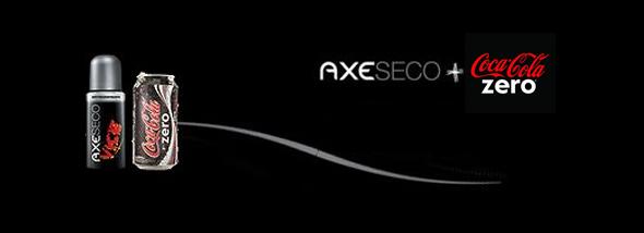 Co-branding AXE y Coca Cola Zero promoción publicitaria entre marcas