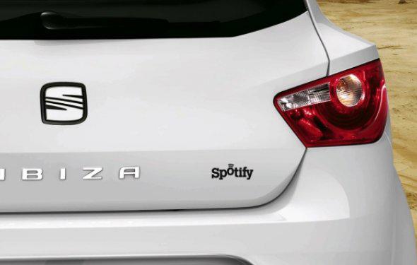 imagen de Co-branding entre coche Seat Ibiza y Spotify