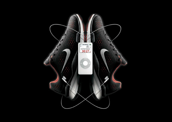 Cobranding Nike y Apple zapatillas y Ipod publicidad y marketing