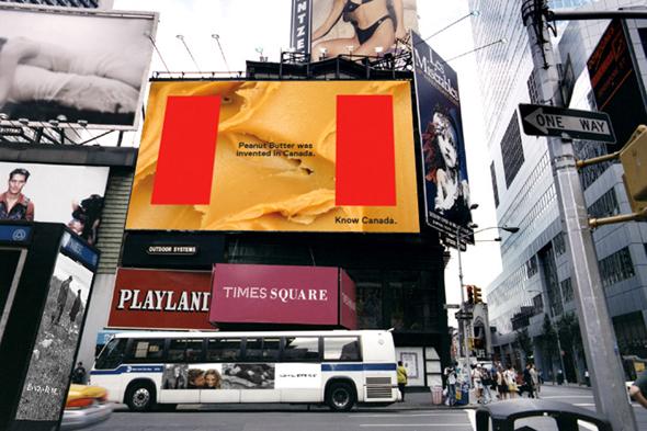 publicidad de la marca país de Canada en la calles del páis norteamericano