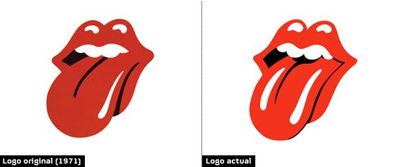 Logo de los Rolling Stones diferencia entre 1971 y el logotipo actual