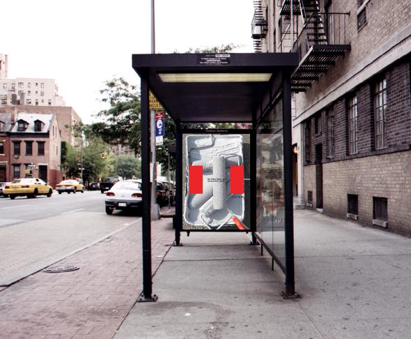 publicidad en la parada de autobus en Canada