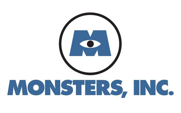 Logotipo Monstruos SA - Pixar - Brandemia_