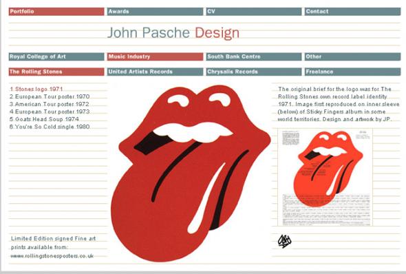 Logo de los Rolling Stones diseño del logotipo actual