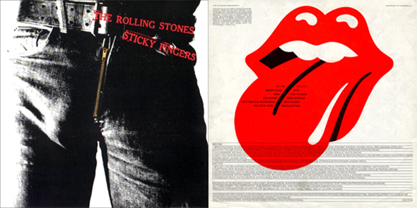Logo de los Rolling Stones disco Sticky Fingers