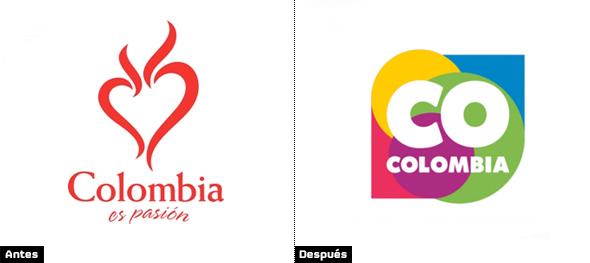 evolución del logo de la marca colombia