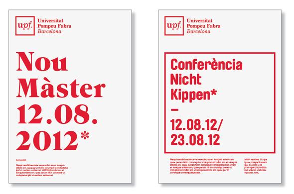 estilo e imagen de la upf Universidad Pompeu Fabra