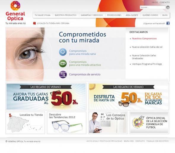 imagen de web de general optica