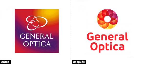 evolución y cambio del logo de general optica