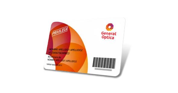 imagen de tarjeta de cliente de general optica