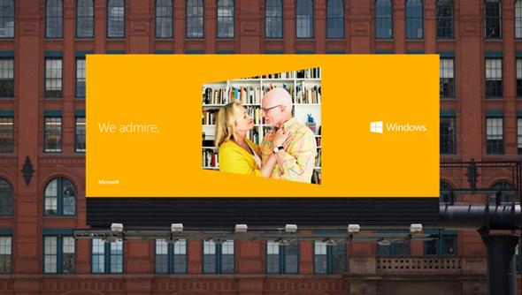valla de publicidad windows 8 imagen