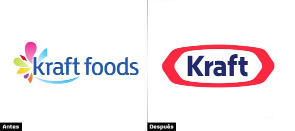 historia y evolución del cambio del logo de kraft foods
