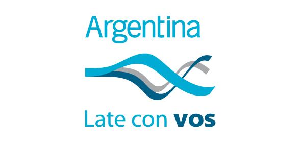 logo de la marca pais argentina late con vos