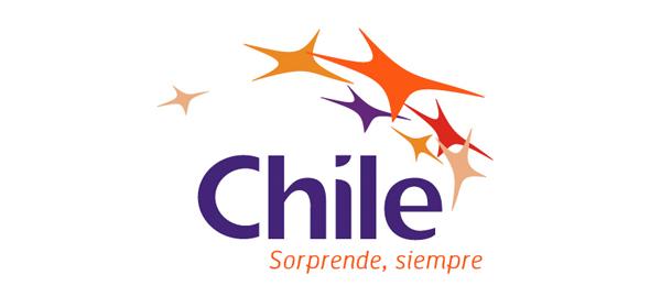 logotipo de la marca país Chile Sorprende siempre
