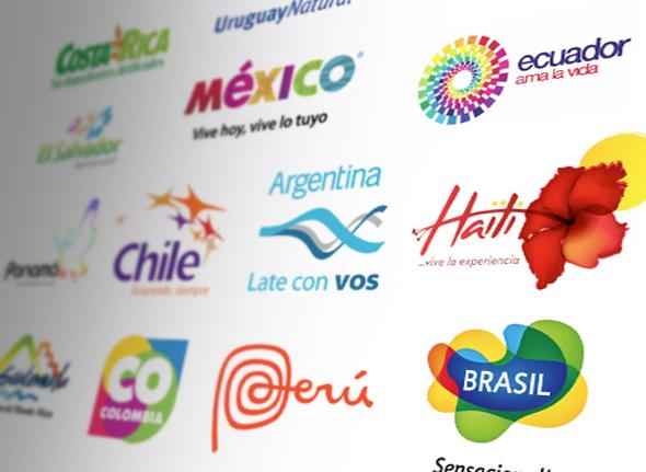 imagen de marca pais de todos los paises latinoamericanos