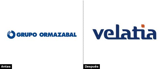 renovación del logo de grupo ormazabal que ahora se llama Velatia