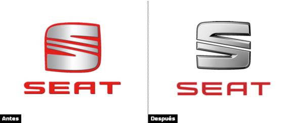 comparacion logo seat antiguo y logo seat rediseño 2014