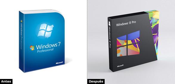 evolución del diseño de windows8