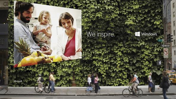 slogan windows 8 we inspire imagen de publicidad