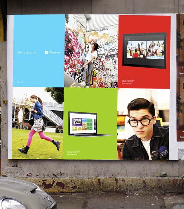 cartel de publicidad windows 8 imagen