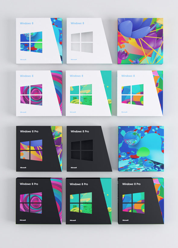 imagen gama de productos windows 8 packaging