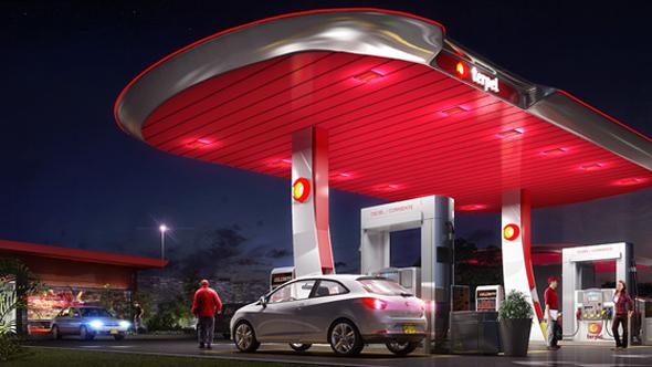 imagen de gasolinera con el símbolo de Terpel colores rojo y amarillo