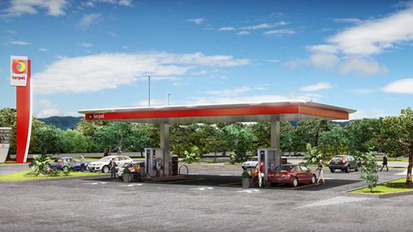 imagen de gasolinera de terpel en Colombia
