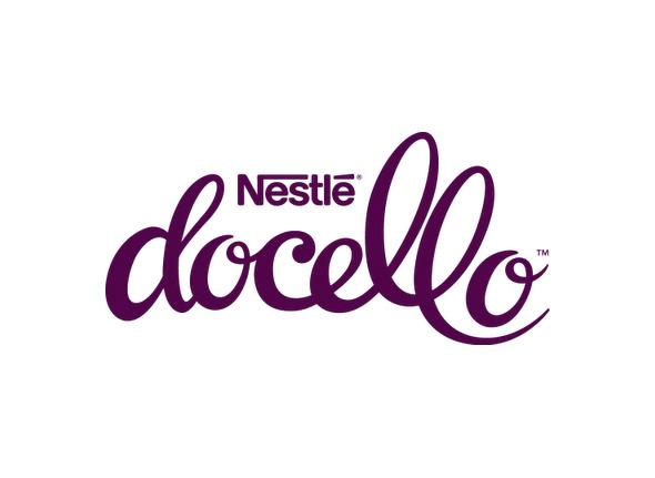 logotipo de Neslé Docello una nueva de marca profesional de postres