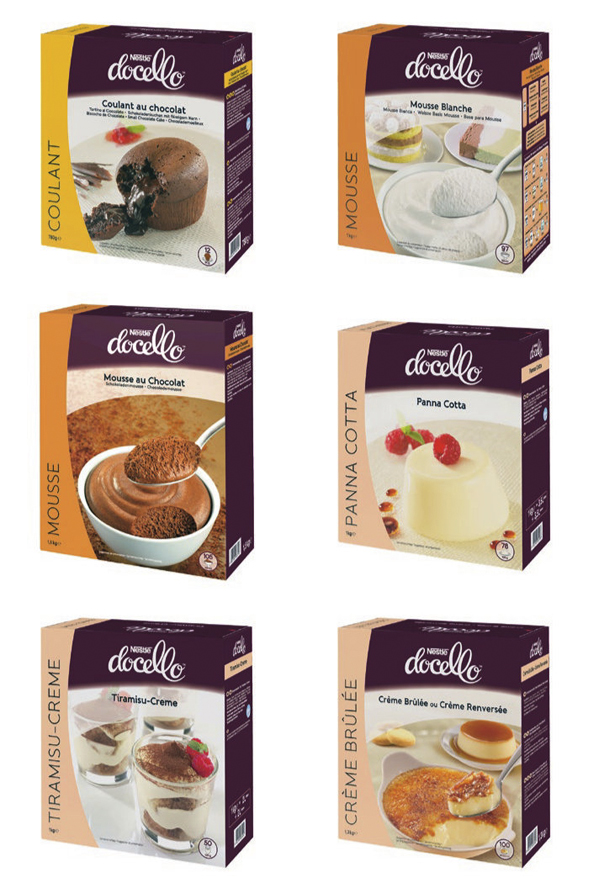 imagenes de packaging de nestle docello marca de postres
