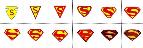 evolución e historia de los logos de Superman en imágenes