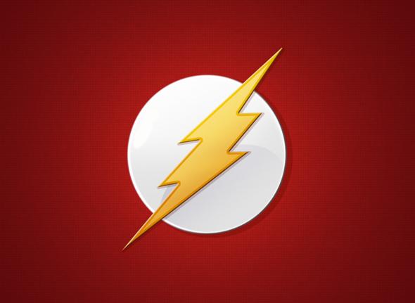 icono del superhéroe flash, análisis del significado del logotipo