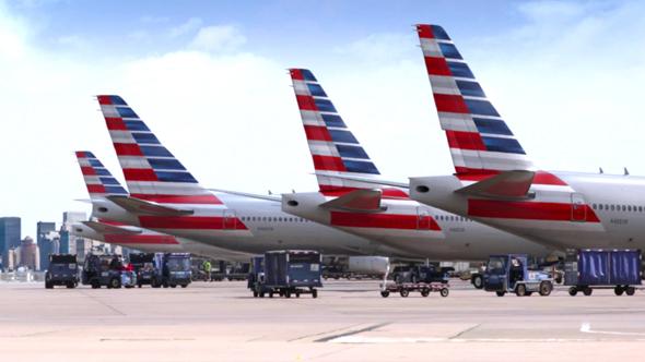 american airlines flota de aviones en un aeropuerto imagen