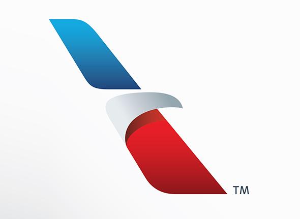 logotipo de american airlines nueva imagen colores rojo y azul