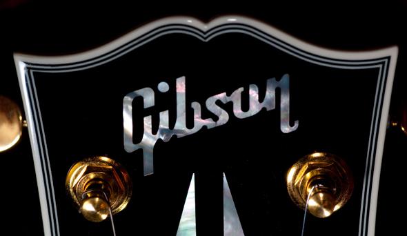 Gibson tipografía y marca gráfica de la compañía e guitarras