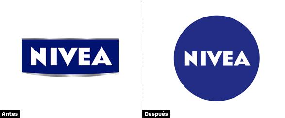 comparacion logo nivea rectangular y circular nueva imagen de marca