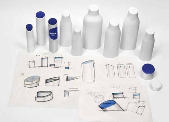 prototipos de botes y diseños de la nueva imagen de marca nivea