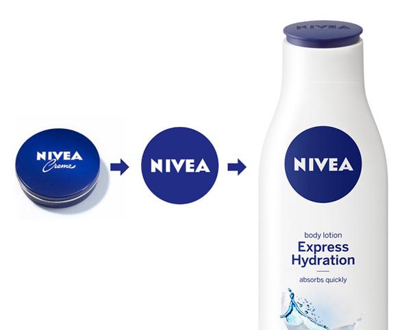 evolución del logo de nivea circular como nueva imagen corporativa de marca