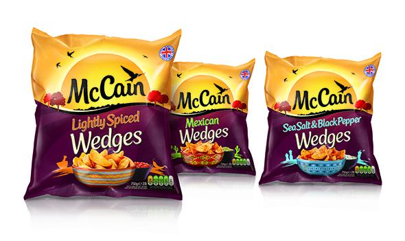 imagen de bolsas de patatas mccain mexican, picantes y saladas