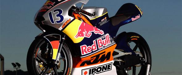 RedBull imagen de moto con el patrocinio de Redbull
